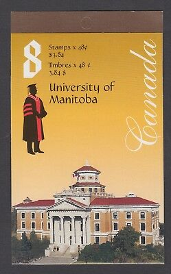 CANADA BOOKLET BK254a 8 x 48c UNIVERSITY OF MANITOBA, GLUED FLAP