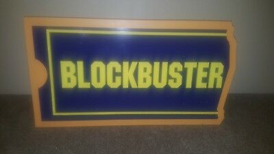 Rare Metal Blockbuster Video Display That Lights Up