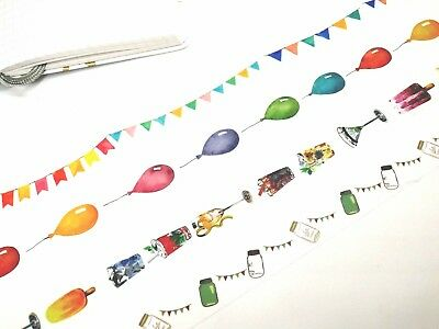 Japan Washi Tape Party flags Balloon Drinks 15mm x 3m MT332