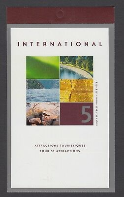 CANADA BOOKLET BK260b 5 x $1.25 TOURIST ATTRACTIONS, OPEN COVER