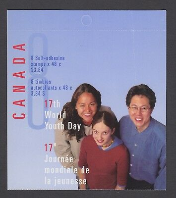 CANADA BOOKLET BK261b 8 x 48c WORLD YOUTH DAY, OPEN COVER