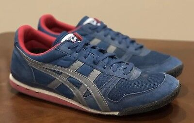 brand new ebe67 becaa ASICS ONITSUKA TIGER ultimate 81 Running Fitness Shoes Blue Red Mens 11
