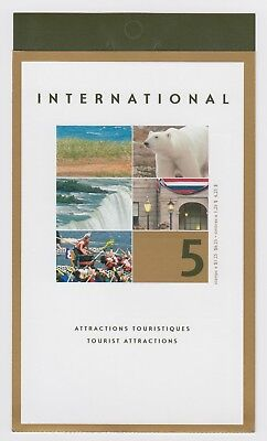 CANADA BOOKLET BK271b 5 x $1.25 TOURIST ATTRACTIONS, OPEN COVER