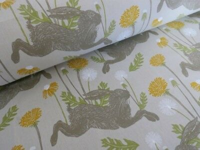 ROMAN BLIND in MARCH HARE LINEN Studio G Fabric MADE TO MEASURE