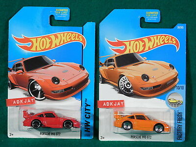 Hot Wheels ~ HW CITY Porsche 933 GT2 & FACTORY FRESH Porsche 993 GT2