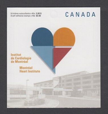 CANADA BOOKLET BK296 8 x 49c MONTREAL HEART INSTITUTE