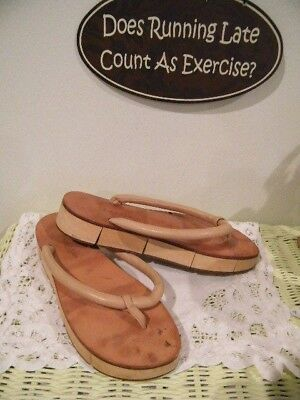 Calvin Klein  Md Italy Wood,Leather Unique Unisex  Sandals Size 8.5 -9