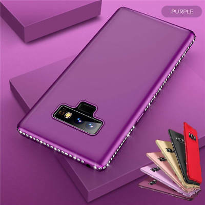 For Samsung Galaxy Note 9/8 S9 Plus Luxury Diamond Slim Thin Silicone Cover Case