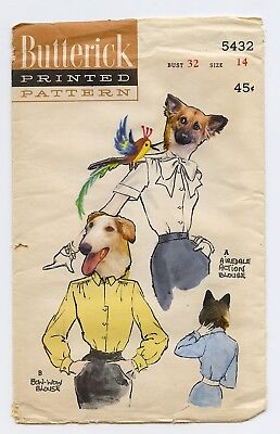 Vintage Altered Butterick Pattern Envelope With Whimsical Dogs Mixed Media Art