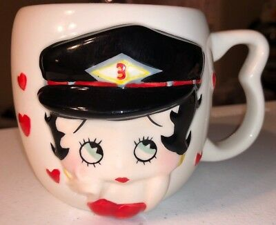 Betty Boop Biker Betty Soup Mug Coffee Cup Mug One For The Road 2003  New