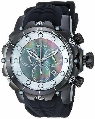 20399 Invicta 52MM Venom Sea Dragon Swiss Black Chronograph MOP Dial Strap Watch