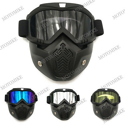 NEW Motorcycle Full Face Mask Anti Fog Goggles Shield Helmet Eyewear Fits Harley