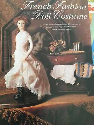 20 inch doll FRENCH FASHION COSTUME sewing pattern - underwear chemise