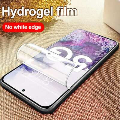 For Samsung Galaxy A6 A8 A7 2018 S9 S10 10D Hydrogel Film Screen Protector Cover
