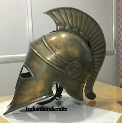 Medieval Antique Ancient Greek Spartan Corinthian Bronze Armour Helmet Replica