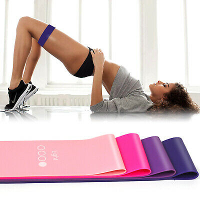 2019 Women Resistance Bands Loop Exercise Sports Fitness Home Gym Yoga Latex UK