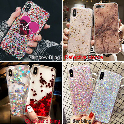 Bling Glitter Sparkle Reflective Case Cover For iPhone Xs Max XR 7 8 6s Plus