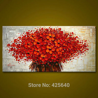 CHENPAT143 100% hand-painted modern abstract flower art oil painting  on canvas