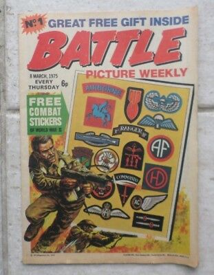 Battle Picture Weekly No.1 March 8th. 1975 - Very Good Used Condition