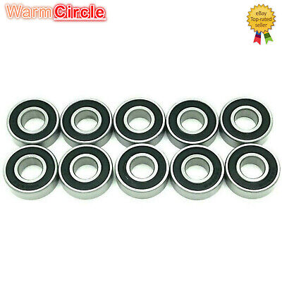 10pc 6202-2RS 6202RS Rubber Sealed Ball Bearing Miniature Bearing 15x35 x11mm