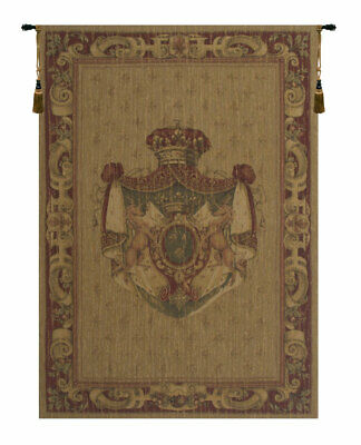 Licornes Blason Belgian Medieval Coat of Arms Woven Tapestry Wall Hanging NEW