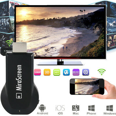 MiraScreen Wireless Display Receivers For iOS Android Mac PC Windows PC 1080P AU