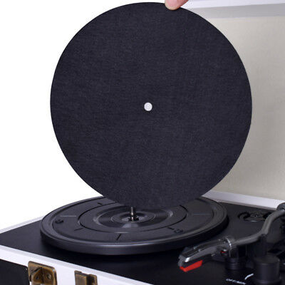 Anti-static Turntable Record Player Mat Phonographs Flat Soft Record Slipmat AU
