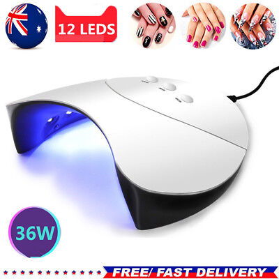 Pro 36W 12LED USB Nail Dryer Cure Lamp Machine For UV Gel Nail Polish Light AU