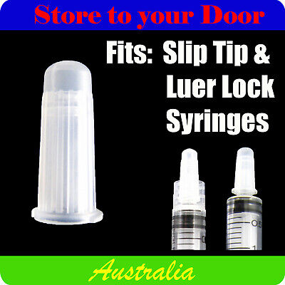 Multi buy - Syringe caps / lids - Suit Slip Tip or Luer Lock Hypodermic Syringes