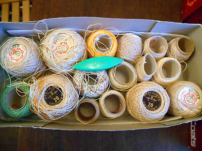 New Crochet Cotton Coates Tatting Shuttle Mix Lot 20 60 Perilustre 30 Box Unused