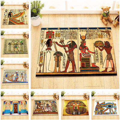 Egyptian Antique Hieroglyphs Pharaoh Kitchen Bathroom Bath Door Mat Bathmat Rug