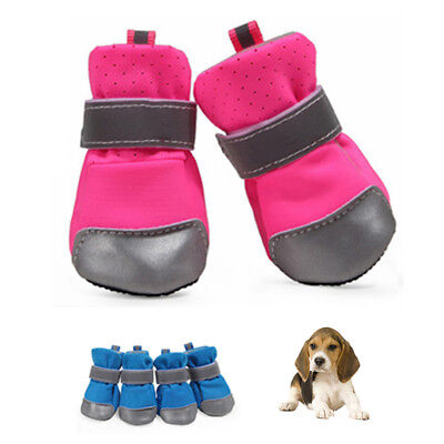 4pcs Pet Dog Shoes Breathable Puppy Walking Footwear Small Dog Anti-slip Shoes
