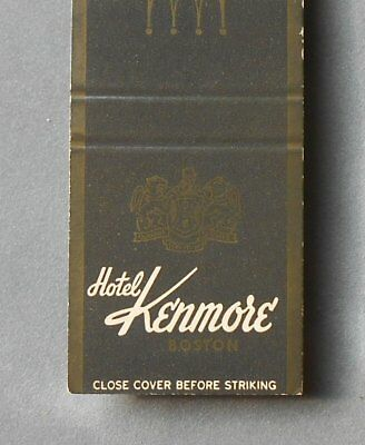1960s Hotel Kenmore Hotel Corporation of America Boston MA Suffolk Co Matchbook