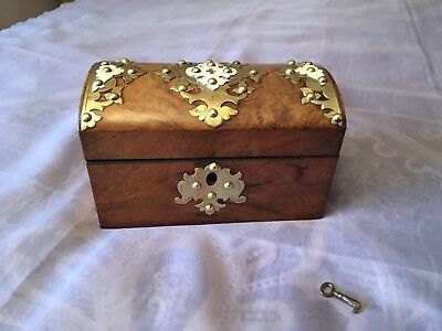 Victorian Tea Caddy With Working Lock And Key