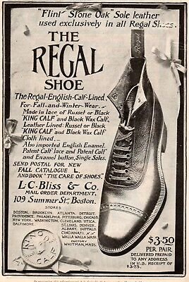Vintage ad Print 1898 Regal Shoe L C Bliss National Correspondence Institute