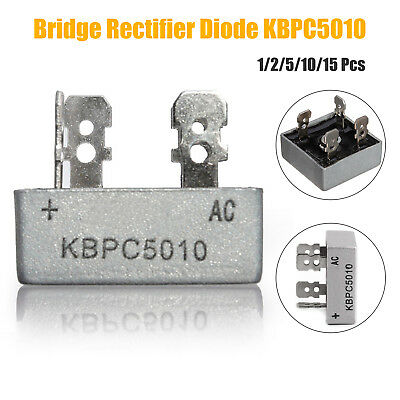 1-15PCS KBPC5010 50A 1000V Metal Case Single Phases Diode Bridge Rectifier UK