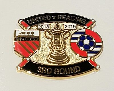 United v Reading Cup 3rd Round  Match Day Badge 5 January 2019 Manchester FA