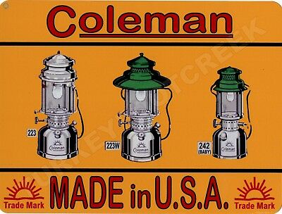 """COLEMAN MADE IN USA 9"""" x 12"""" Sign"""