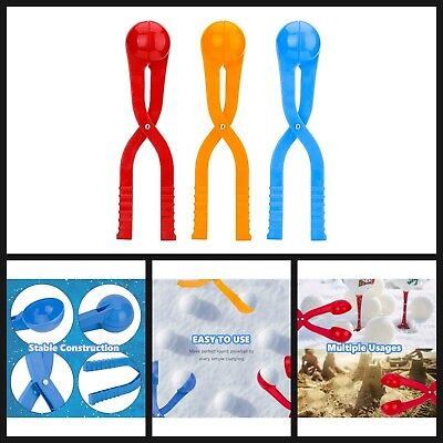 Snow Toy Snowball Maker Tool For Kids Any Ages 36cm Long Red/ Yellow/Blue 3 Pack