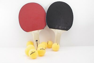 2X Ping-Pong Rackets + 8X Balls. Ping-Pong Set - Table Tennis Set. 2 Players