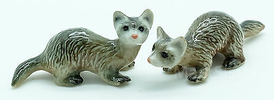 Figurine Animal Smell Pet Ceramic Statue 2 Ferret - CFX009
