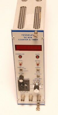 "Tennelec TC 534 Counter & Timer ""plug in"" Messeinschub für frame"