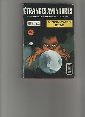 BD ETRANGES AVENTURES n°34 L'incroyable Hulk 1974 Editions AREDIT