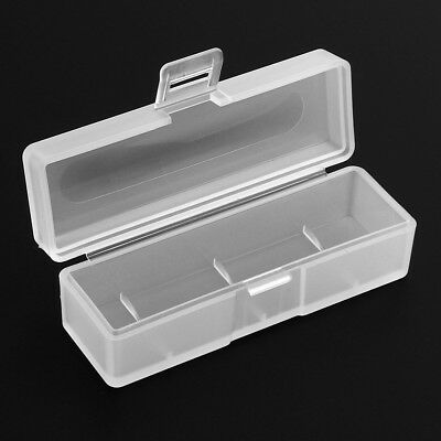 Hard Plastic Clear Case Cover Holder Protective 18650 Battery Storage Box