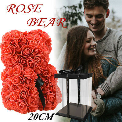 25CM Romantic Rose Bear Art C rafts New Style Valentine's Day With Gifts Box