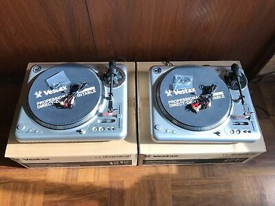 Pair VESTAX PDX-2000MK2 Professional DJ Use Turntable w/ box, cartridge MIB