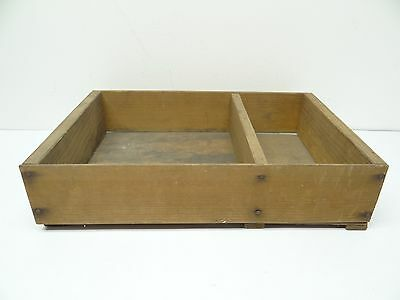 Carpenters Tool Box Caddy Carrying Container Vintage Used Wood Wooden Handmade