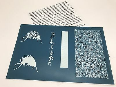 "One Ginny Eckley Asian Koi Fish Theme Silk Screen Stencil, 5.5"" x 8.5"" (RF610)"