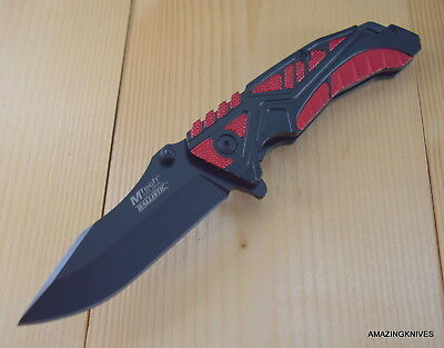 Mtech Knife Spring Assisted Pocket Folding Tactical With Pocket Clip