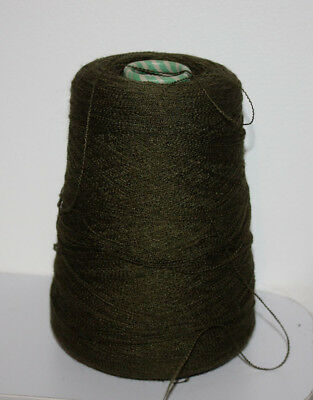 1 Cone Hand or Machine Knitting Wool/Yarn in Sage Green Total weight 340g